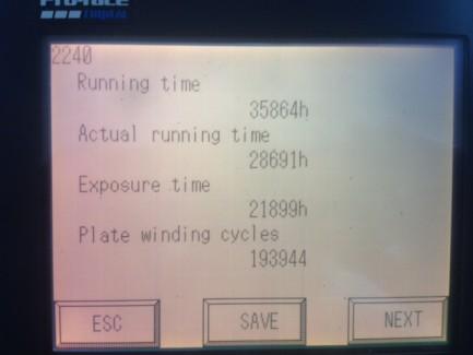 Platerite 8100 CTP  Screen